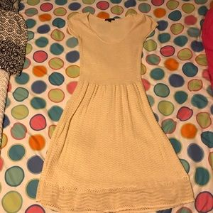 American Eagle cream sweater dress